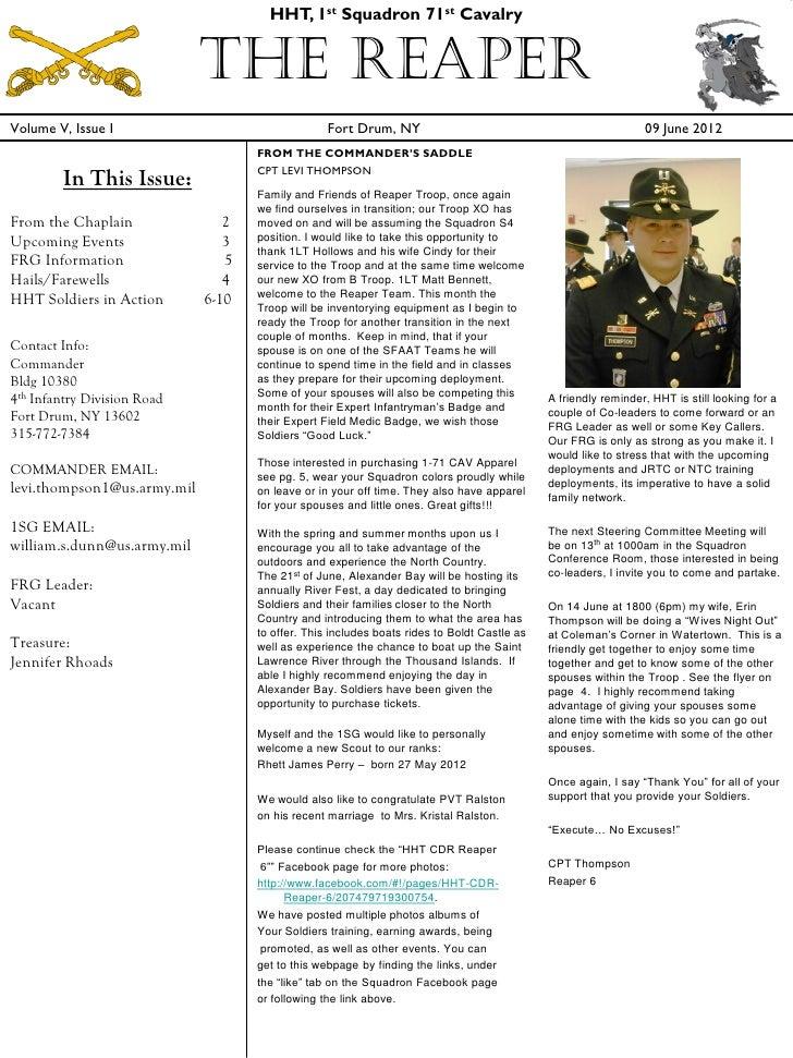 HHT June news letter