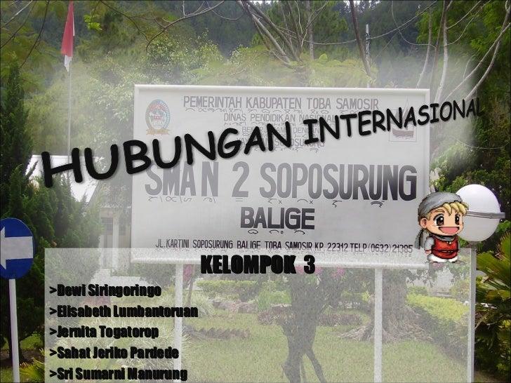 KELOMPOK  3 >Dewi Siringoringo >Elisabeth Lumbantoruan >Jernita Togatorop >Sahat Jeriko Pardede >Sri Sumarni Manurung