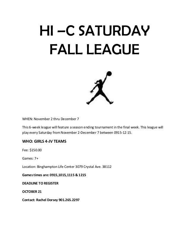 HI C Fall League
