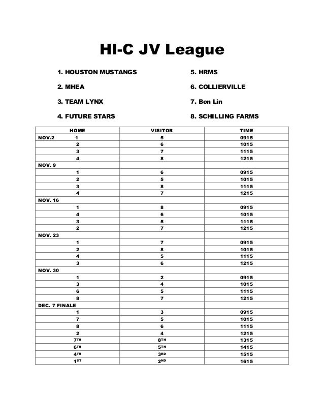 HI-C JV League