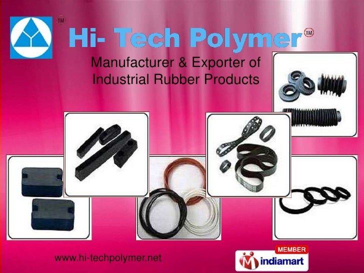 Manufacturer & Exporter of Industrial Rubber Products<br />