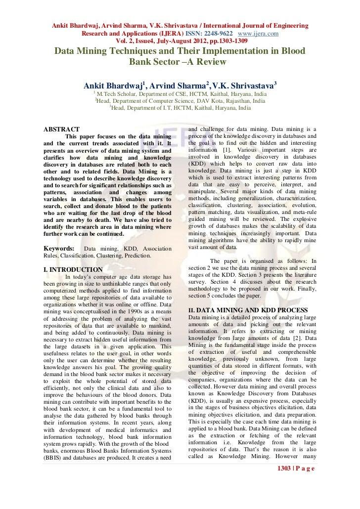 Ankit Bhardwaj, Arvind Sharma, V.K. Shrivastava / International Journal of Engineering            Research and Application...