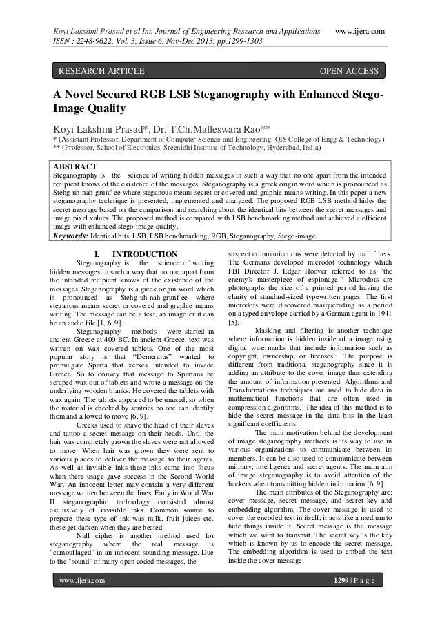 Koyi Lakshmi Prasad et al Int. Journal of Engineering Research and Applications ISSN : 2248-9622, Vol. 3, Issue 6, Nov-Dec...