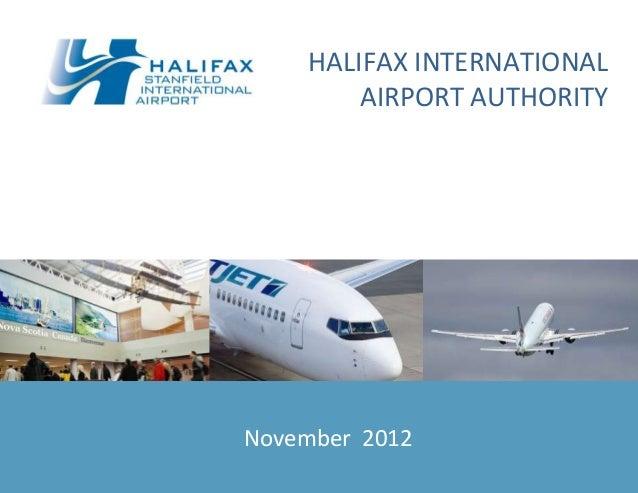 Halifax International Airport Authority presentation