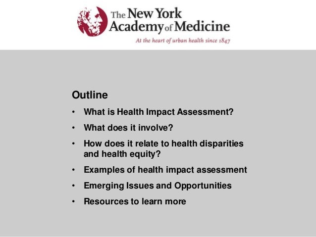 Health Assessment Example Examples of Health Impact