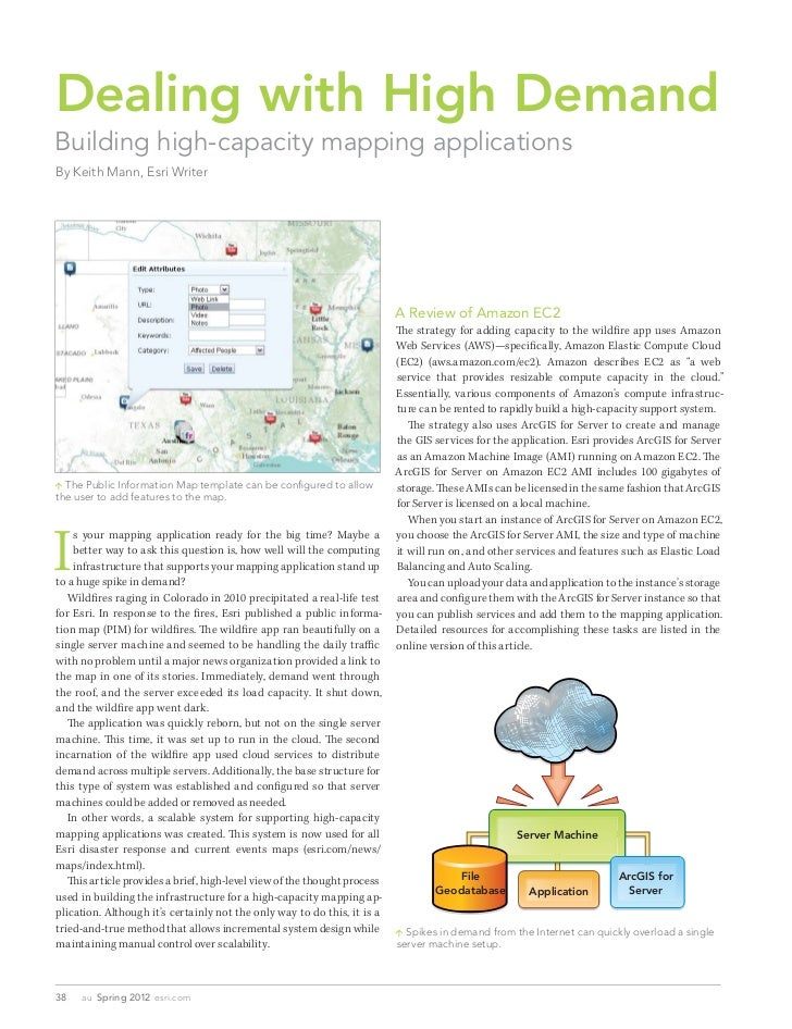 Dealing with High DemandBuilding high-capacity mapping applicationsBy Keith Mann, Esri Writer                             ...