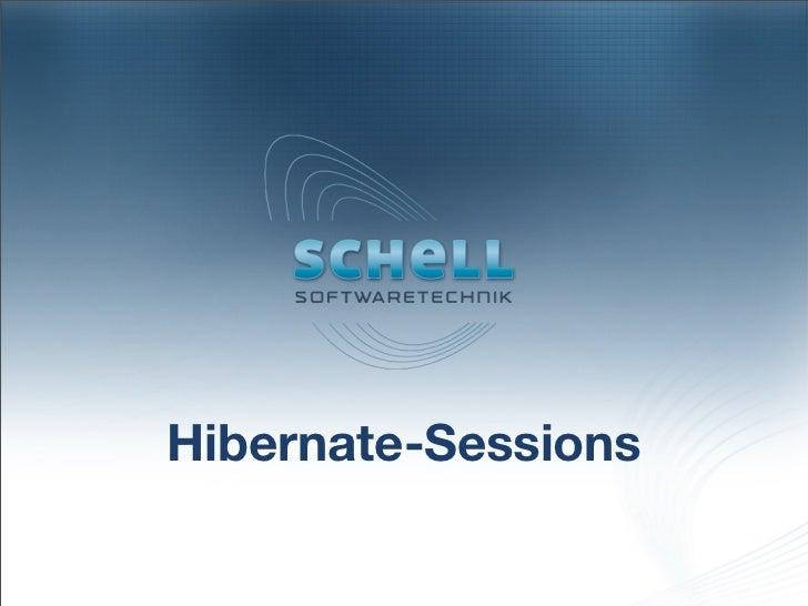 Hibernate-Sessions