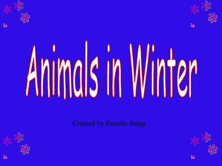 Animals in Winter Created by Pamela Stepp