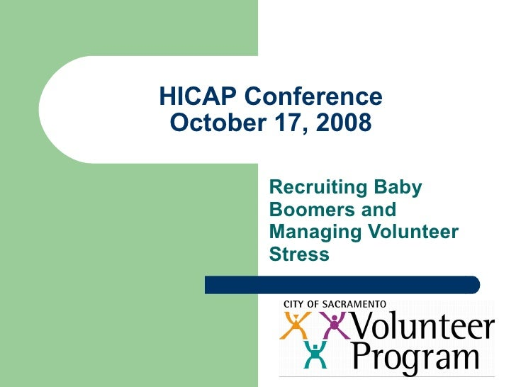 Recruiting Baby Boomer Volunteers and Managing Volunteer Stress