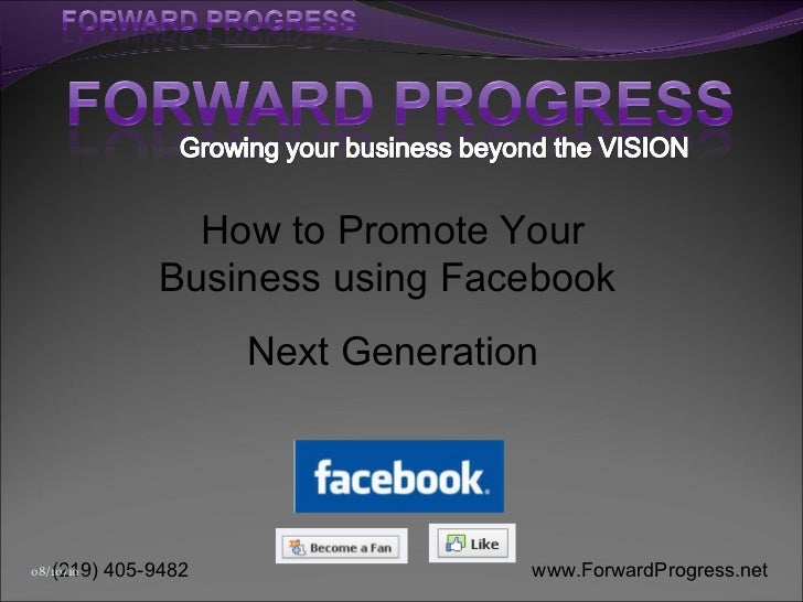 How to Promote Your Business using Facebook  Next Generation