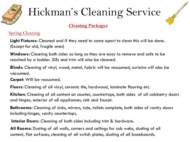 hickman s cleaning service cleaning packagesspring cleaninglight ...