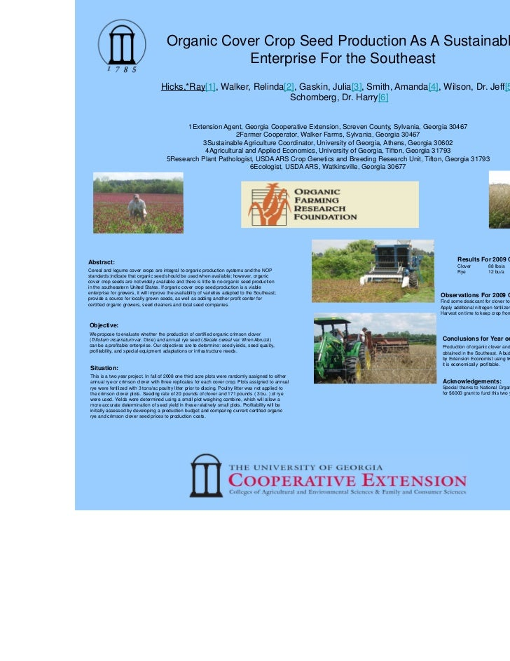 Hicks cover crop  poster