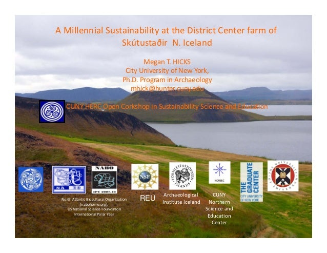A Millennial Sustainability at the District Center farm of                 Skútustaðir  N. Iceland                        ...