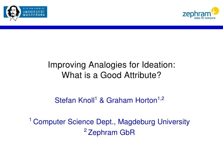 Improving Analogies for Ideation: What is a Good Attribute?