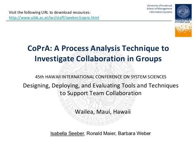 CoPrA: A Process Analysis Technique to Investigate Collaboration in Groups