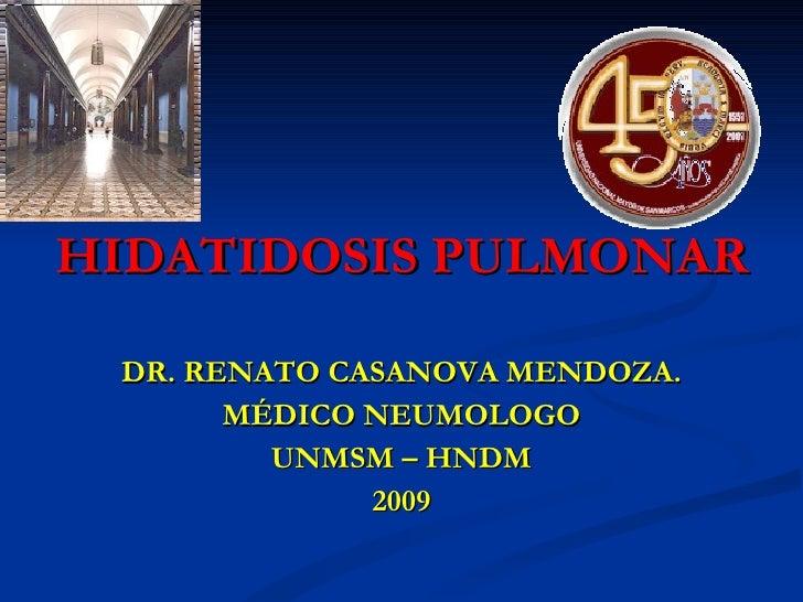 Hidatidosis pulmonar.dr casanova