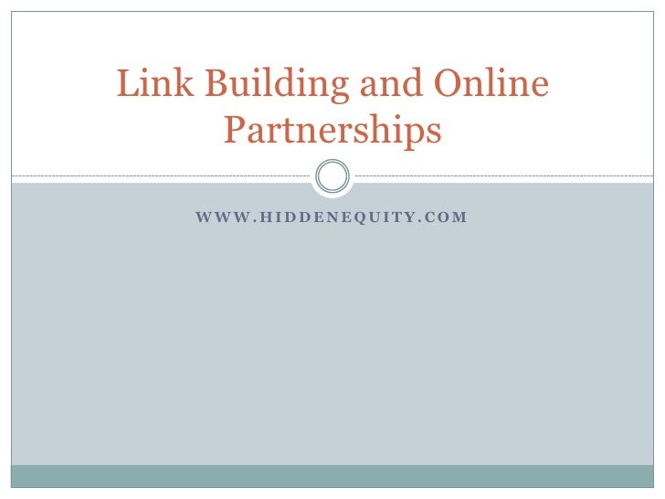 Hidden Eq Link Building And Online Partnerships