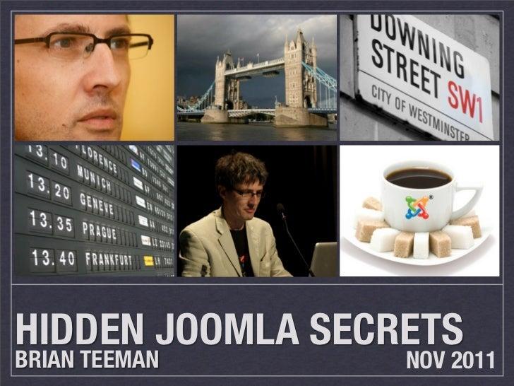 Hidden Joomla 1.7 Secrets