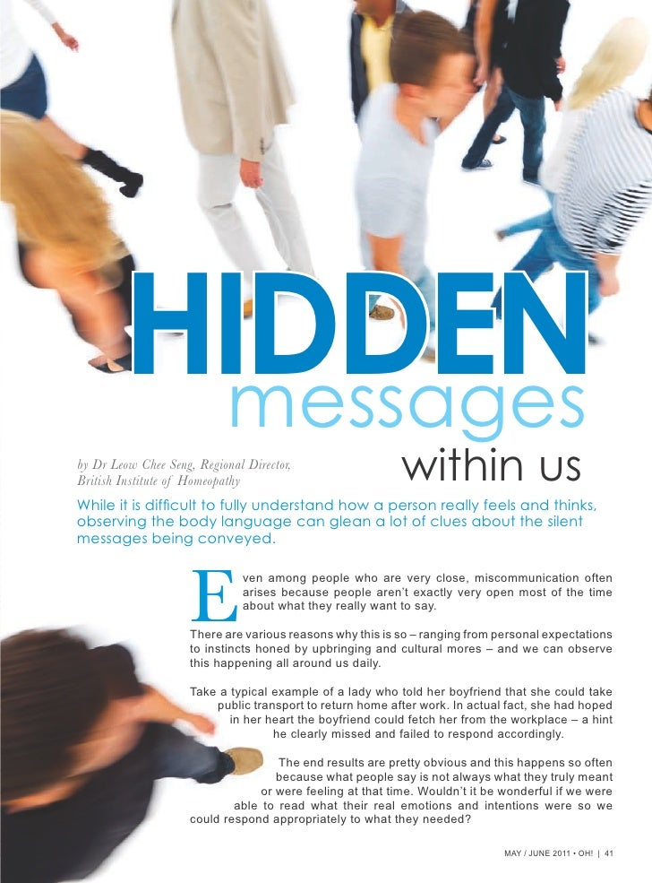 Hidden Messages Within Us
