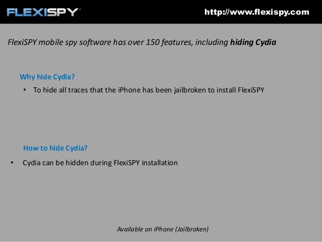 How to hide the iPhone jailbreak after installing FlexiSPY on an iPhone