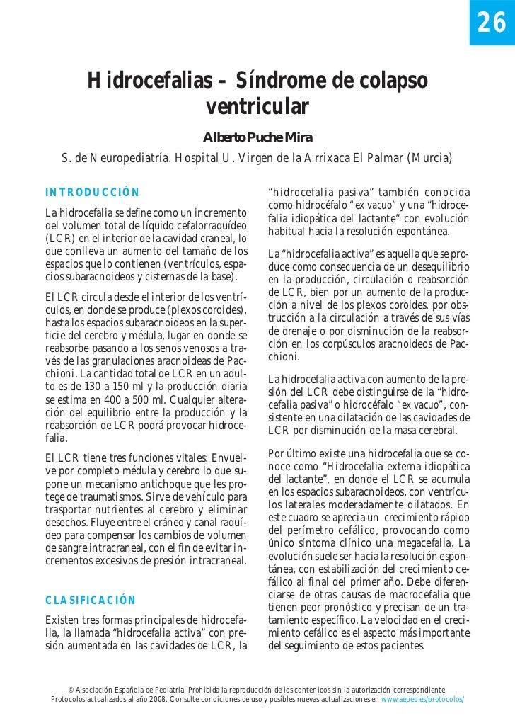 26            Hidrocefalias – Síndrome de colapso                        ventricular                                      ...