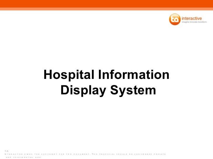 Hospital Information  Display System