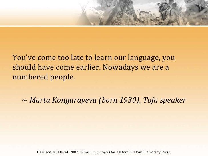 Hieber - Language Endangerment: A History