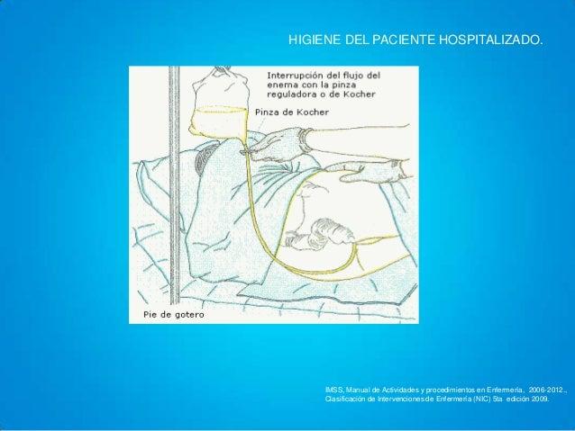 Baño En Ducha Del Paciente:Hiegiene del paciente hospitalizado