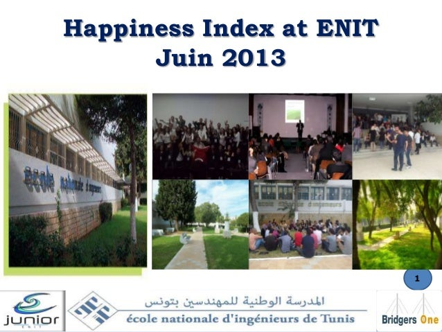 Happiness Index at ENIT Juin 2013  1