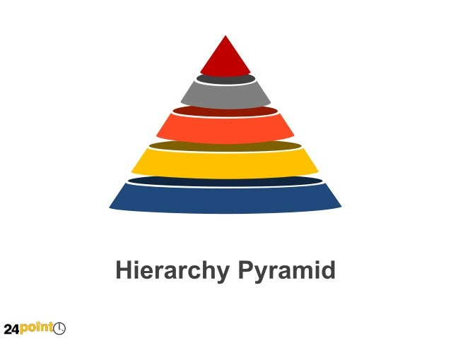 Hierarchy Pyramid Shapes Powerpoint