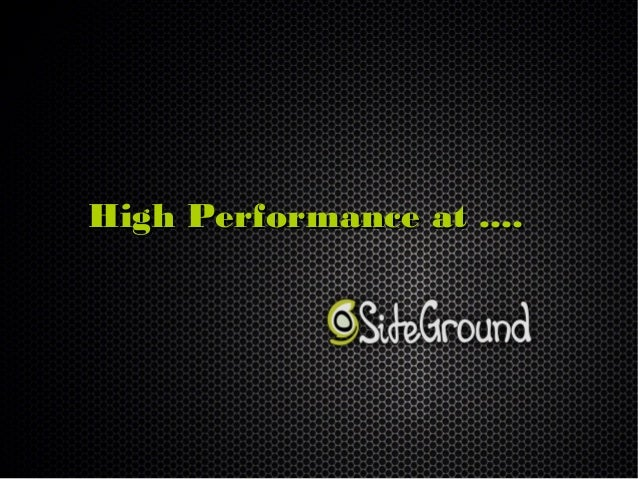 High Performance at ....