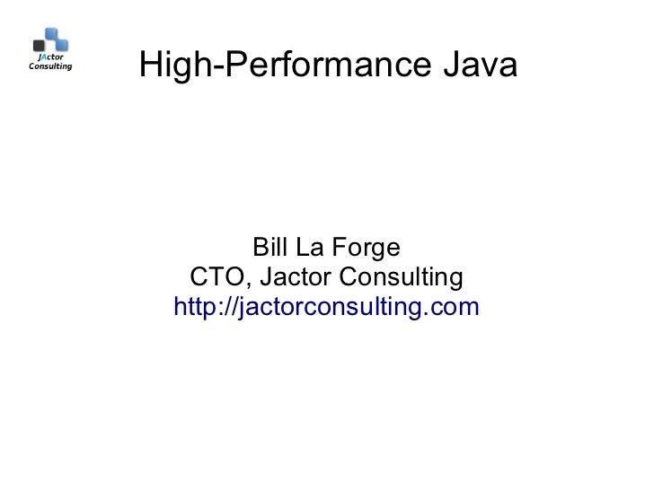 High performance-java