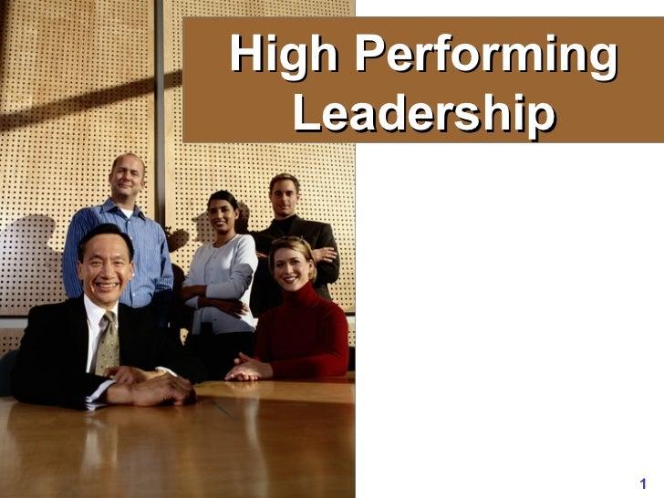 High Performing Leadership