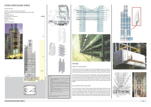 High rise building research document for Norman foster strutture