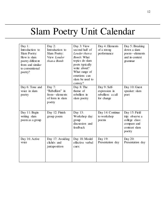 How to write poetry slam