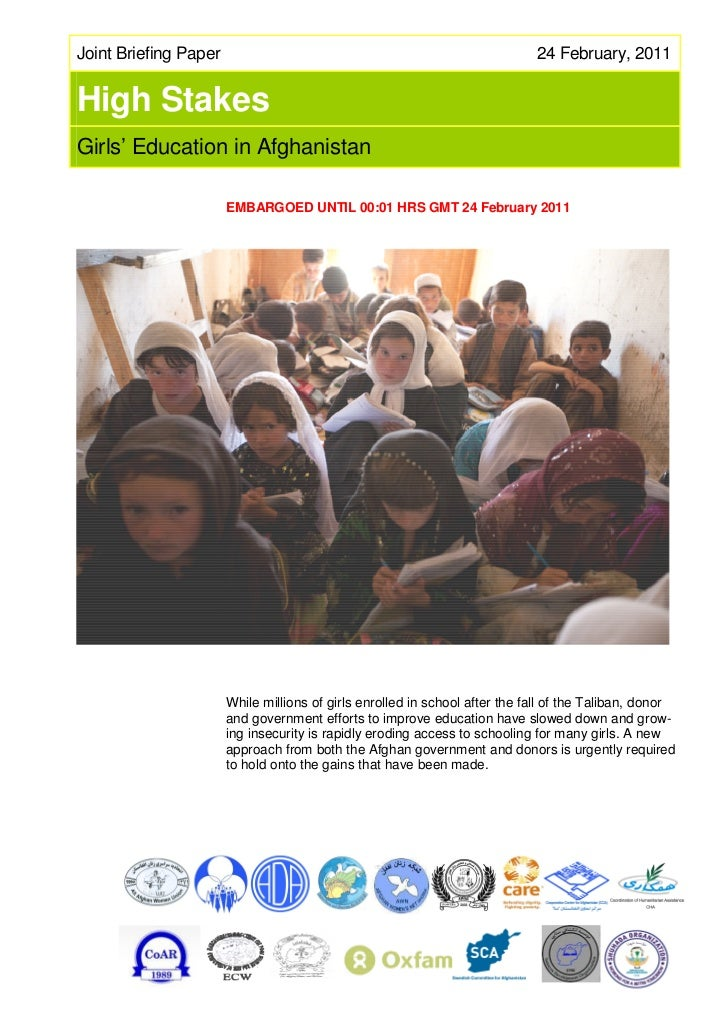 High Stakes Girls' Education in Afghanistan.pdf