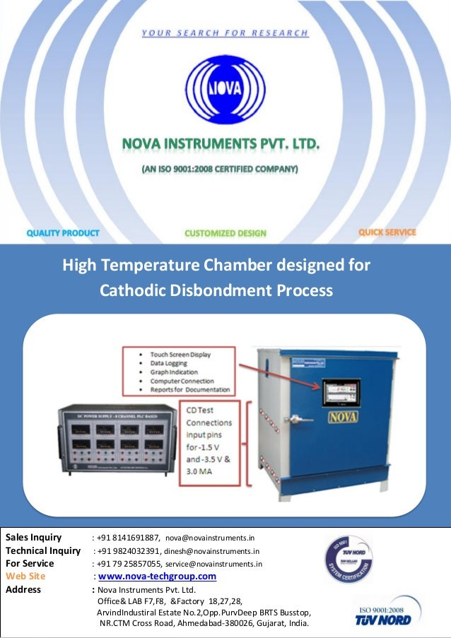 High temprature-chamber-for-cathodic-disbondment-process