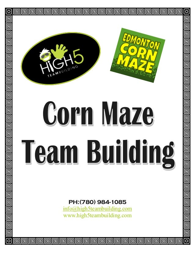 Edmonton Team Building Activity - The Corn Maze