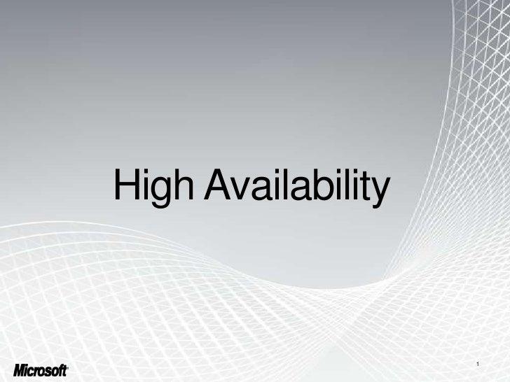 High availability lync server 2010
