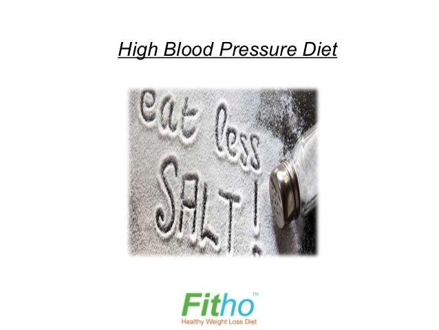 High Blood Pressure Diet