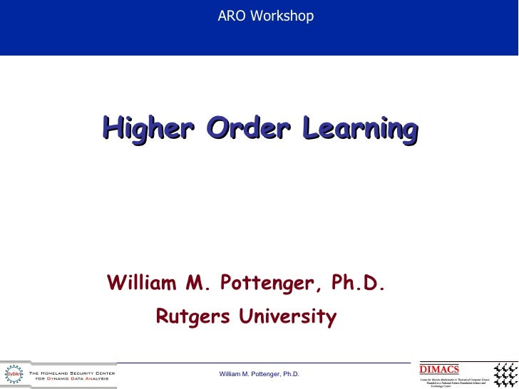 Higher Order Learning