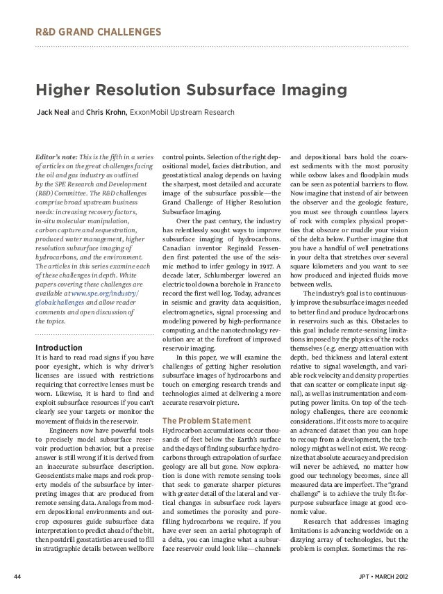 Higher resolution subsurface-imaging - jpt article