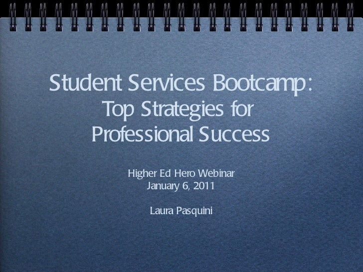 Student Services Bootcamp: Top Strategies for Professional Success