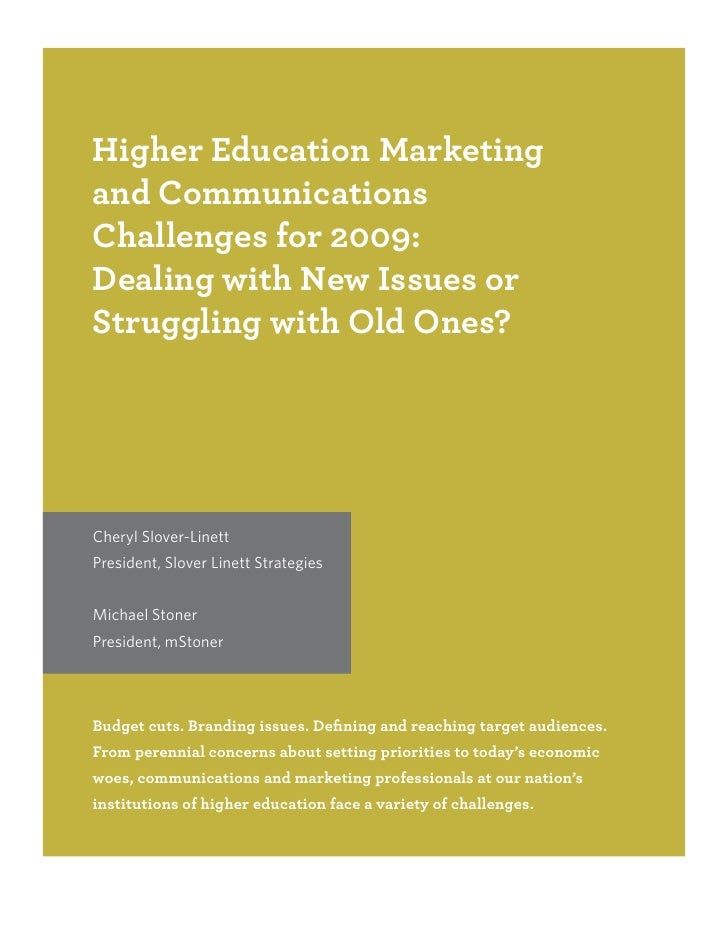 Higher Ed Mktng 09
