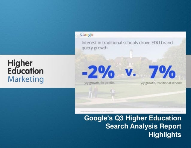 Google's Q3 Higher Education Search Analysis Report Highlights  Google's Q3 Higher Education Search Analysis Report Highli...