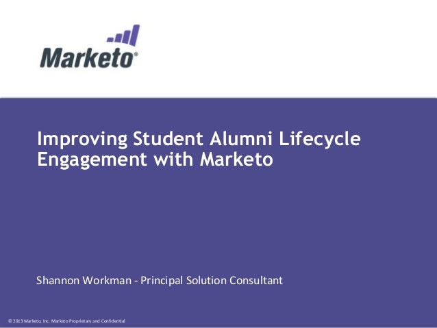 Improving Student/Alumni Lifecycle Engagement with Marketo