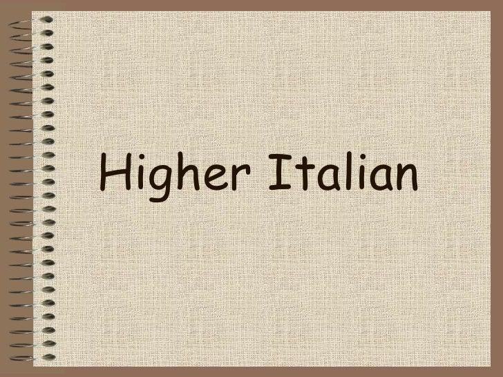 Higher Italian