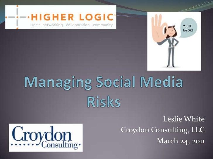 Managing Social Media Risks