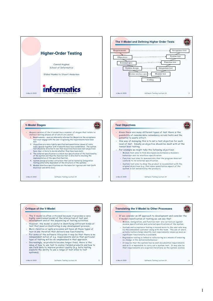 The V-Model and Defining Higher Order Tests                                                                               ...