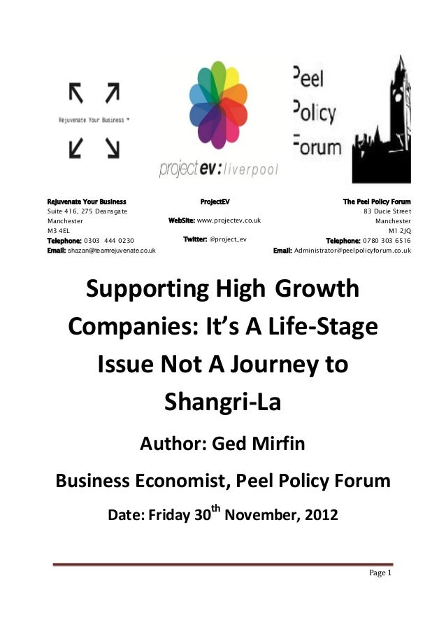 High Growth Businesses   Its A Life Stage Problem Not A Journey To Shangri La